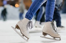Close up photo of person ice skating