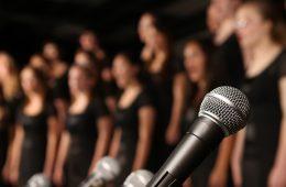 people singing in a choir or chorus