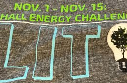 Design on the Residence Hall Energy Challenge T-shirt