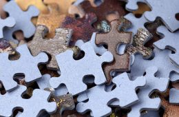 Photo of puzzle pieces in a pile