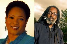 Headshots of Monica White from University of Wisconsin-Madison and Malik Yakini from Detroit Black Community Food Security Network