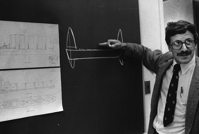 Prahl in his earlier days at the Case School of Engineering (Photo courtesy Plain Dealer archives)