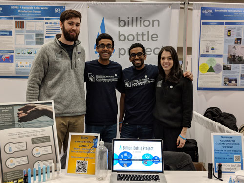 Members of the Billion Bottle Project