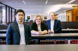 "Law students Alton Oh (left) and Holger Sonntag (right) and Professor Laura McNally-Levine traveled to rural Kentucky to represent people on disability whose lives were upended by their lawyer's scam. Featured in ""Seeking Justice"" Photo: Michael F. McElroy"