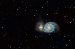 A rendering of the 'Whirlpool Galaxy'
