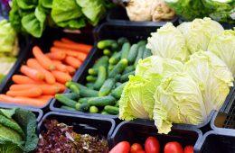 produce at a supermarket