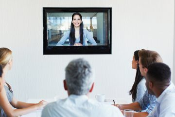 group of people meeting via video conference