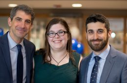 Professor Avidan Cover and law students Lindsay Cook and Anthony Cirranello Jr.
