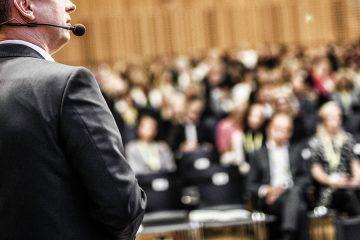man speaking at conference seminar