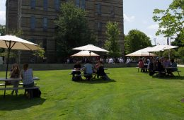 Summer barbecue on the quad
