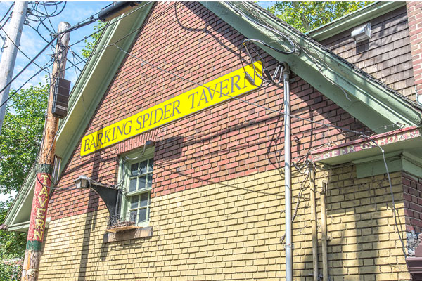 Photo of former Barking Spider Tavern location.