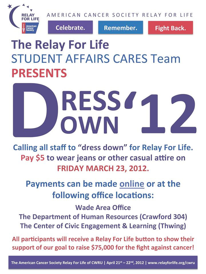 Make A Donation To Relay For Life To Take Part In Dress Down Day