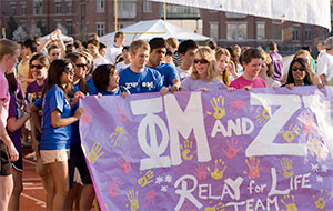 Students at CWRU Relay For Life