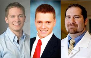 Photos of John Lewandowski, Mark Lewandowski and Brian Grimberg