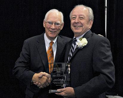 photo of Daniel Clancy Alumni Service Award winner John Massie