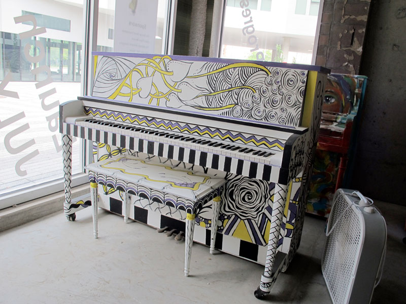 Photo of the Cleveland Clinic's piano for Play Me, I'm Yours