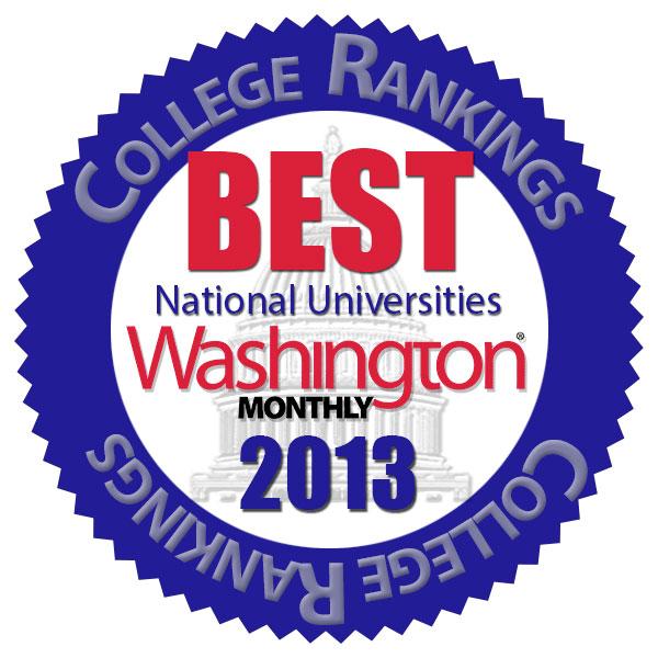 Washington Monthly best colleges logo