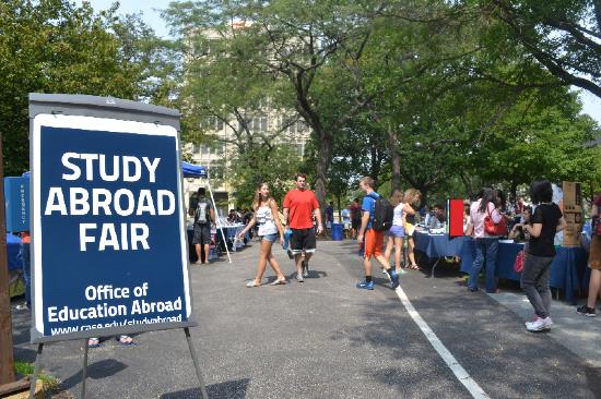 photo of the Study Abroad Fair at CWRU