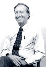 black and white headshot of John Kennell, professor emeritus at CWRU