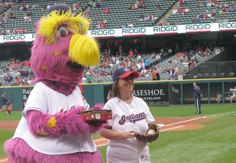 Earlier this year, the Cleveland Indians named Robin Kramer their season ticket holder of the year, and she was invited to throw out the first pitch at a game in September.