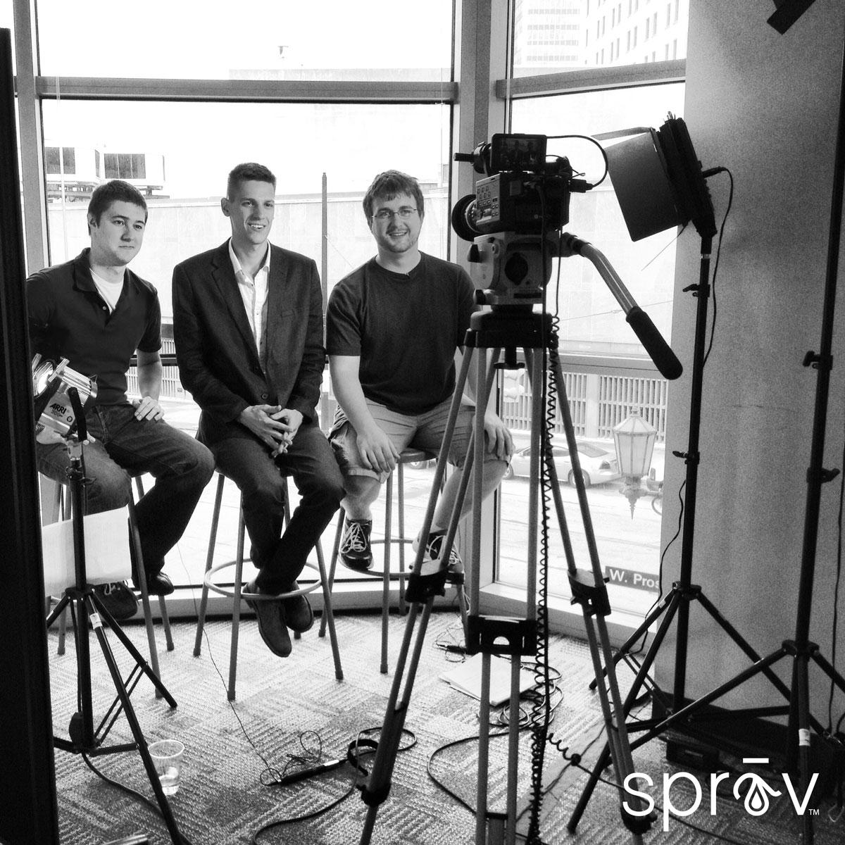 Sprav cofounders Craig Lewis, Andrew Schad and CJ Valle