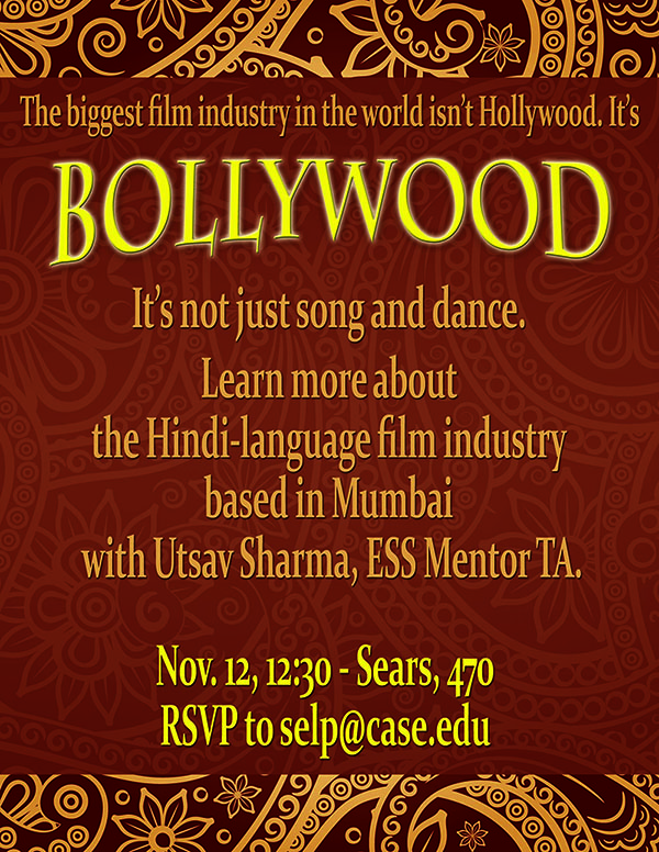 Learn about Bollywood at Spoken English Language Partners event Nov