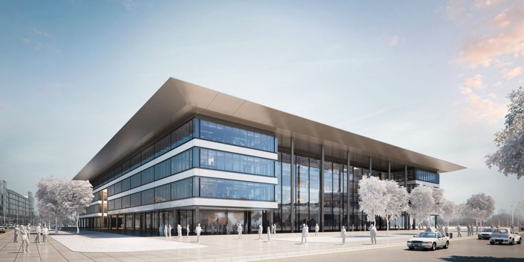 Rendering of the CWRU Cleveland Clinic health education campus