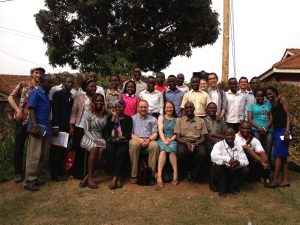 group picture of students from CWRU and  Makerere University