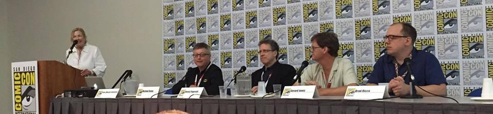 Brad Ricca speaking at Comic-Con