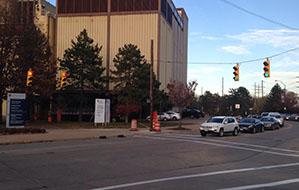 Traffic light at Adelbert Road and Circle Drive