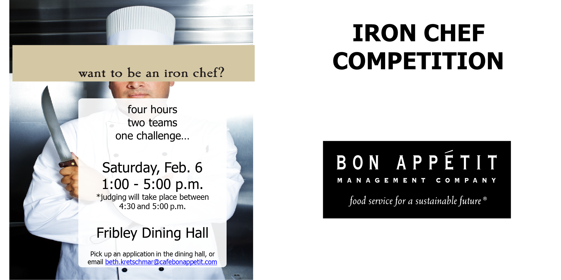 how to become an iron chef
