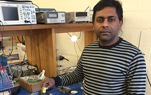 photo of Soumyajit Mandal in the lab