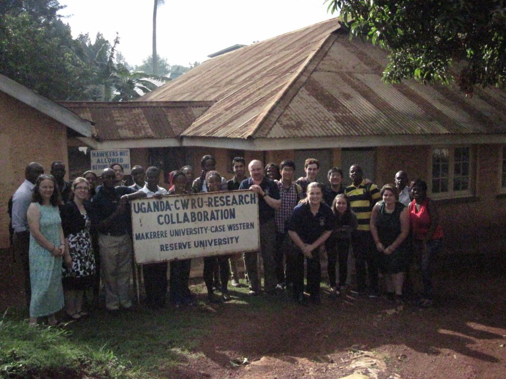 Team photo of students and faculty involved in Uganda global health project