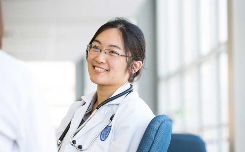 CWRU female medical student smiling