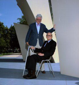 Harvey Buchanan and Philip Johnson in 1997.