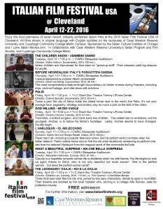 Italian Film Festival USA flyer