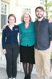Professor Cowart with her award-winning students