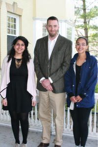 Eric Chilton with his award-winning students