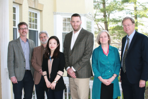 Group picture of faculty writing award winners