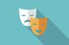 drama happy/sad faces icon