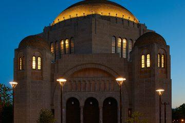 Maltz Performing Arts Center exterior at night