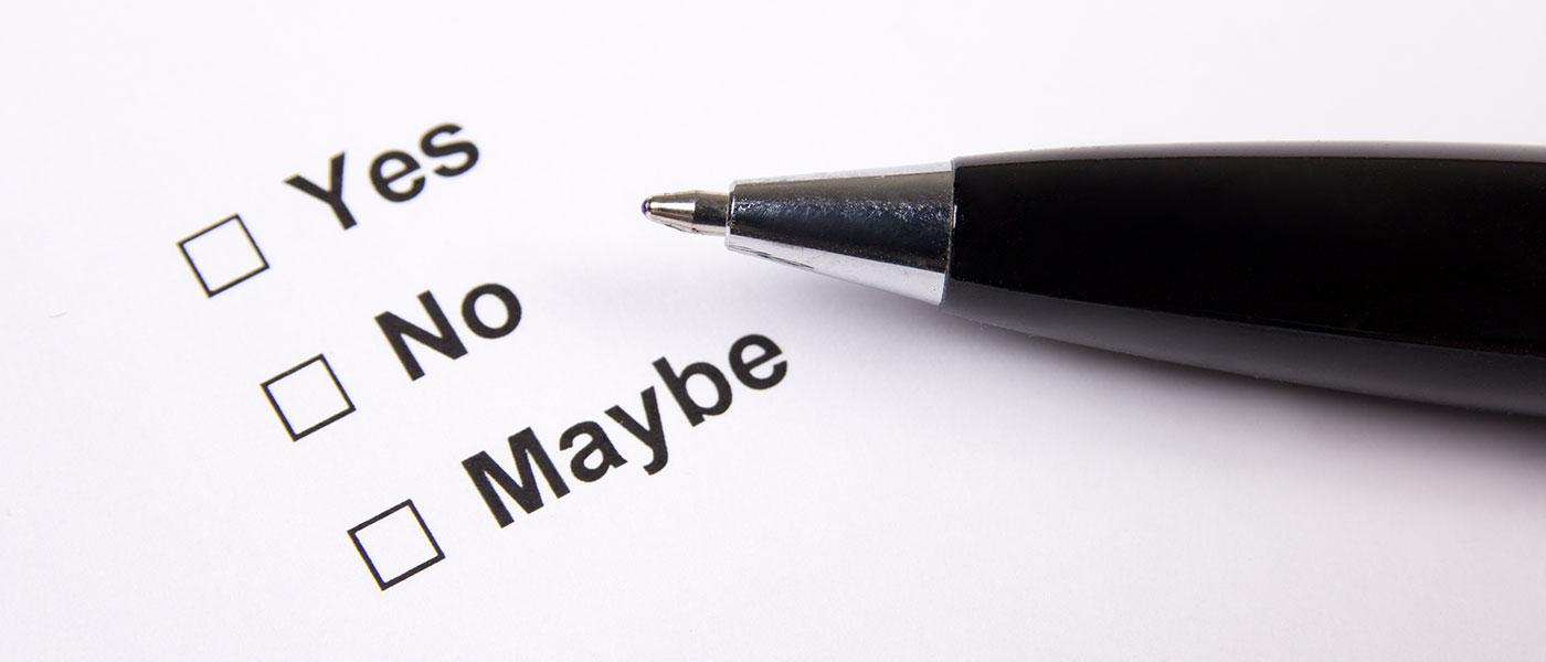 pen on survey paper