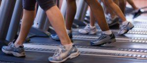 People on treadmill