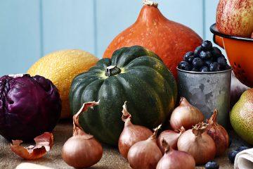 University farm Autumn vegetables