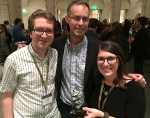Henry Eastman, Mark Griswold and Erin Henninger at the 2016 Jackson Hole Science Media Awards competition