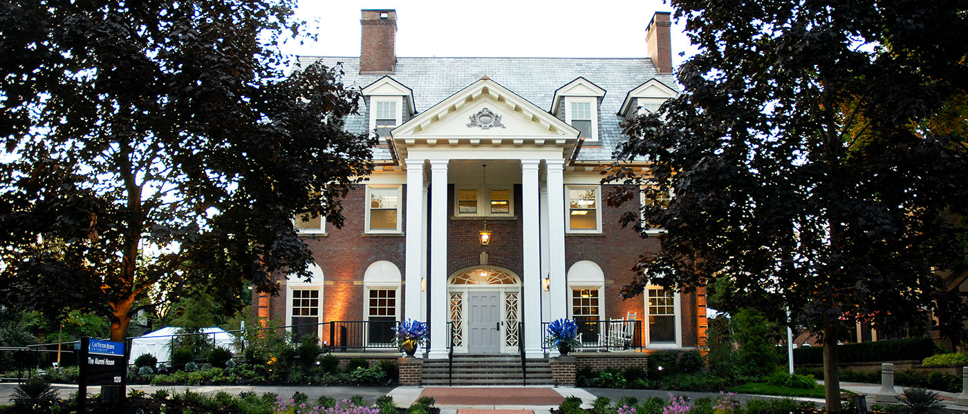 exterior of Alumni House
