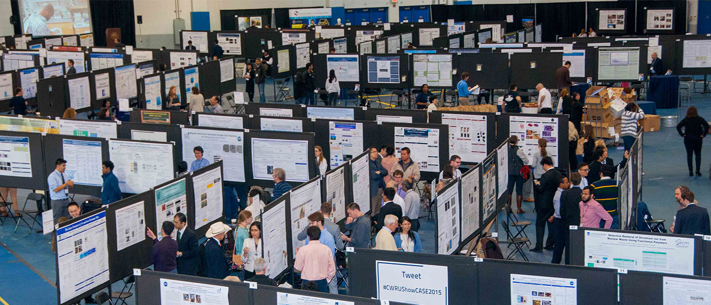 Overhead view of Research ShowCASE Intersections event