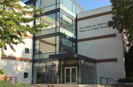Exterior of the Jack, Joseph and Morton Mandel School of Applied Social Sciences
