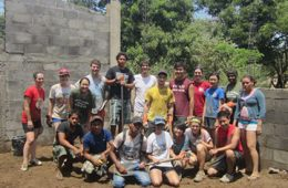 Students pose for photo in Nicaragua