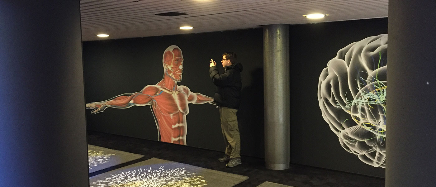 """""""Immersive Learning with Holograms"""" display at Congress Centre Davos"""